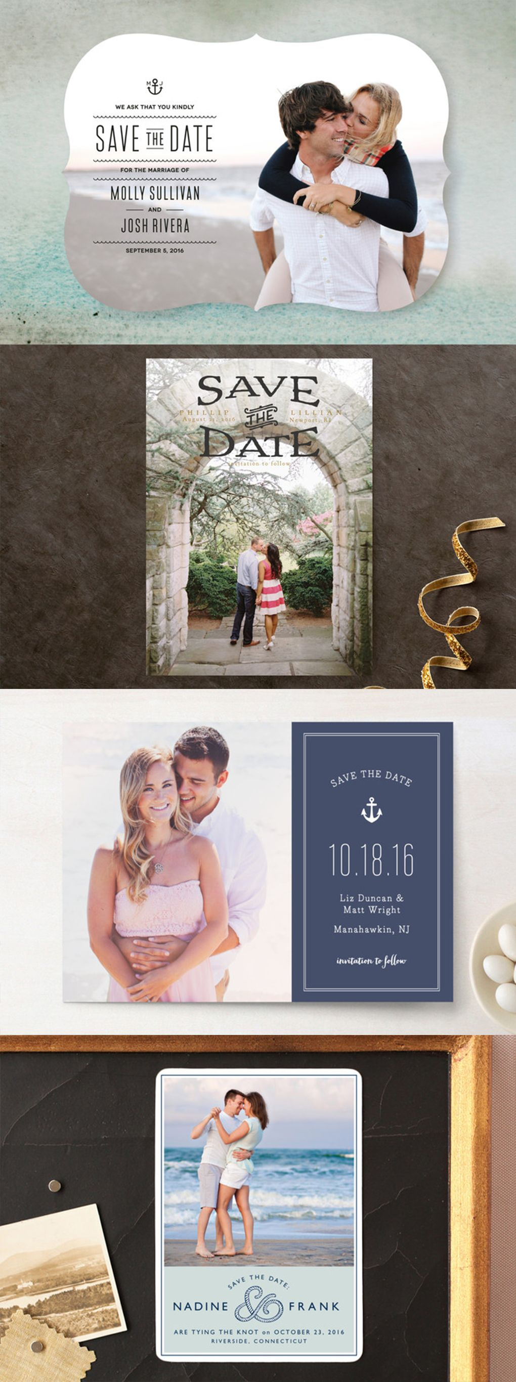 Nautical Wedding Save The Date Invitations Postcards Magnets And