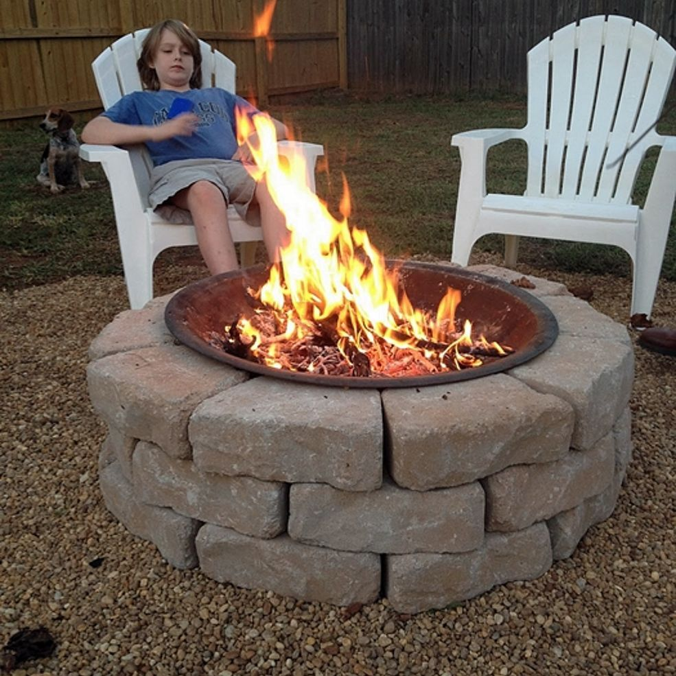 Make an Inexpensive Backyard Fire Pit   Diy outdoor ...