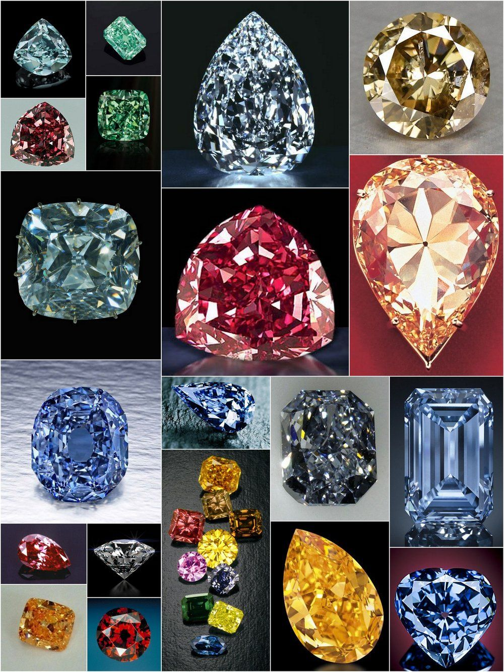Rare Fancy Colored Diamond Reference Charts Jewels Pinterest
