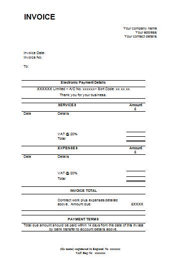 Business Invoice Template Open Office  Business Invoice Template