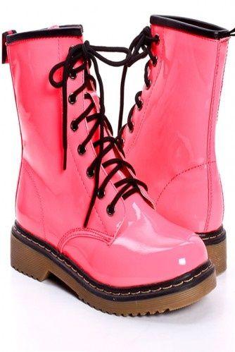 2d0ddb7175b8 Cheap Pink Combat Boots - Fashion Boots