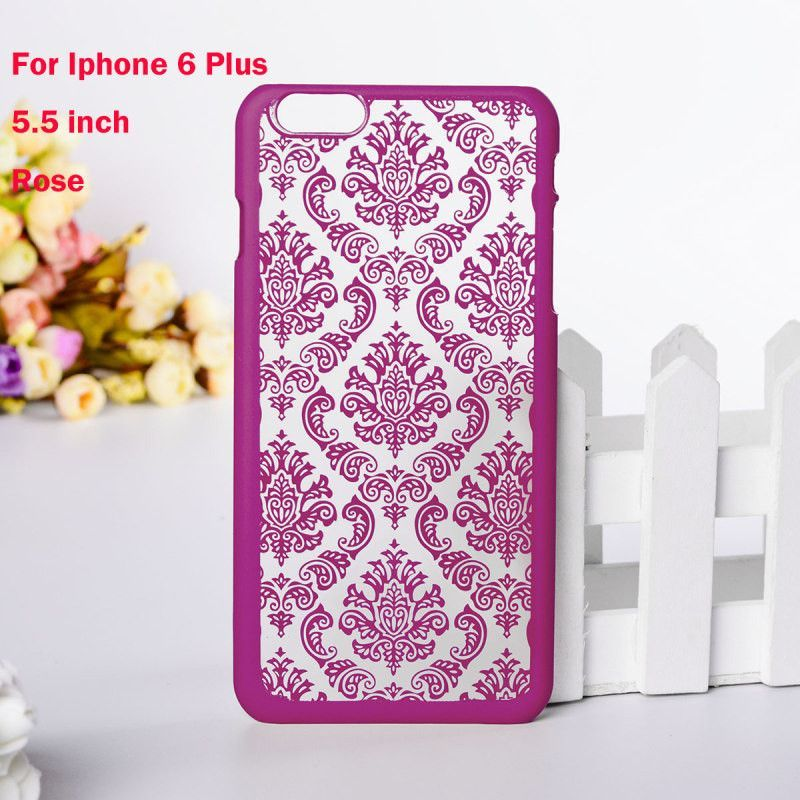Vintage Flower Pattern Fashion Luxury phone Back Cover for iphone 6 6s 6 plus case