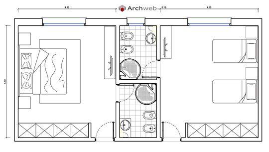 Letto zona notte dwg - sleeping area | interior | Stanza da ...