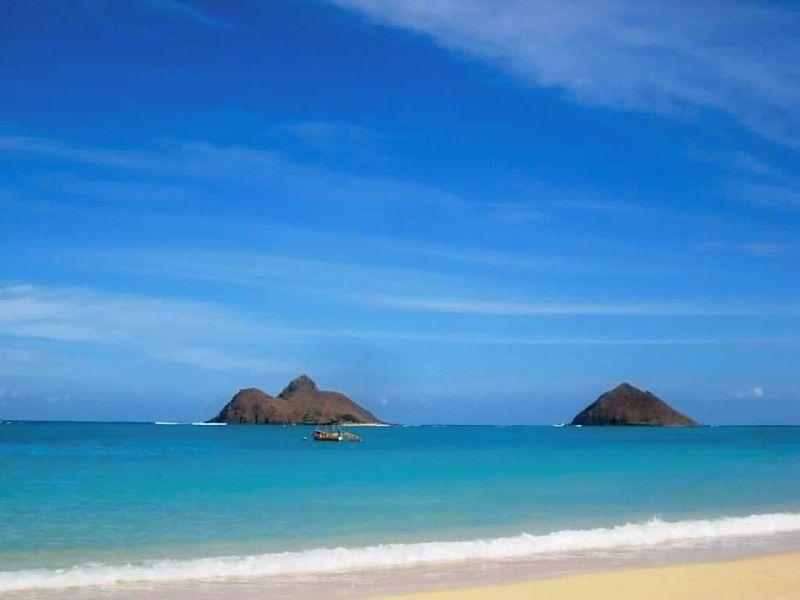 Lanakai Beach in Honolulu.  Great place to SUP.