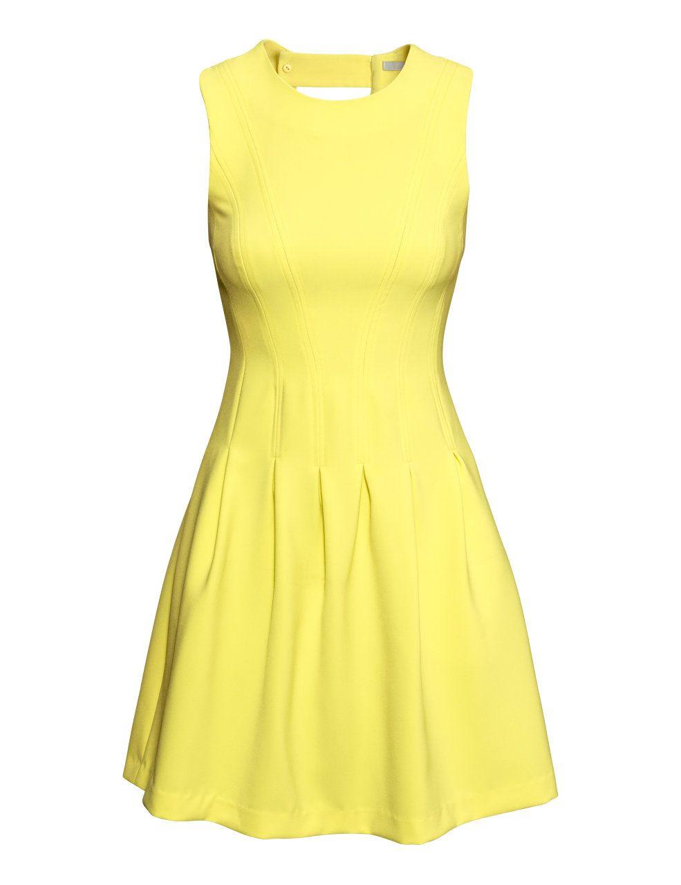 H&M Ärmelloses Kleid 39,99 | Mode outfits frauen, Gelbe ...