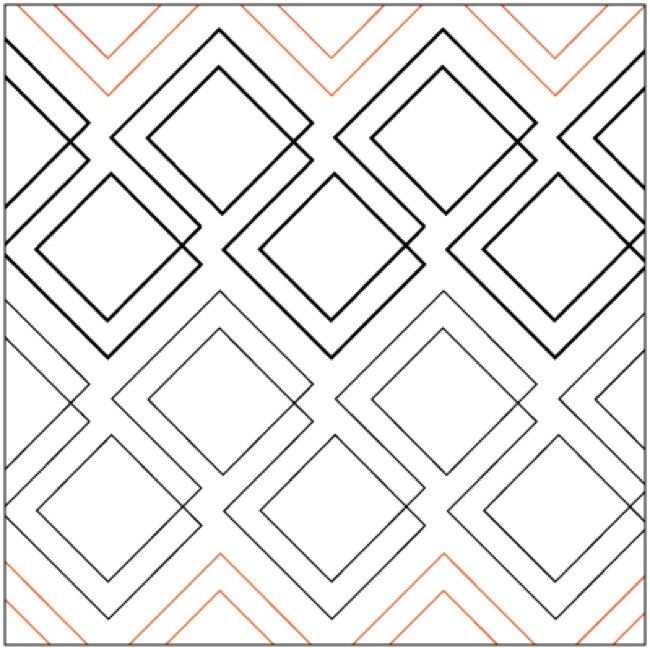Diagonal Plaid - Pantograph | Quilt Stitches | Pinterest