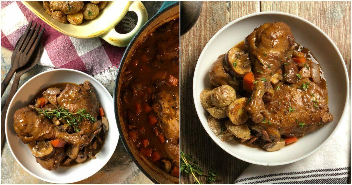 Julia Child S Coq Au Vin Chef S Recipe Recipe Coq Au Vin Chef Recipes Cooking With White Wine