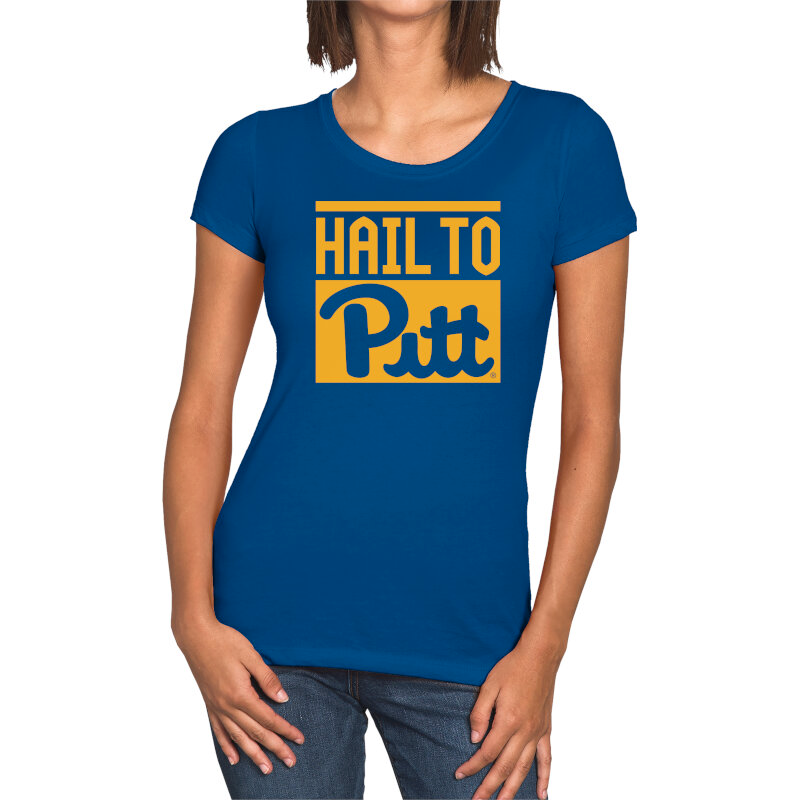 Official Pitt Panthers Hail To Pitt Women S T Shirt The Official Store Of Pitt Athletics T Shirts For Women Women Pitt Panthers