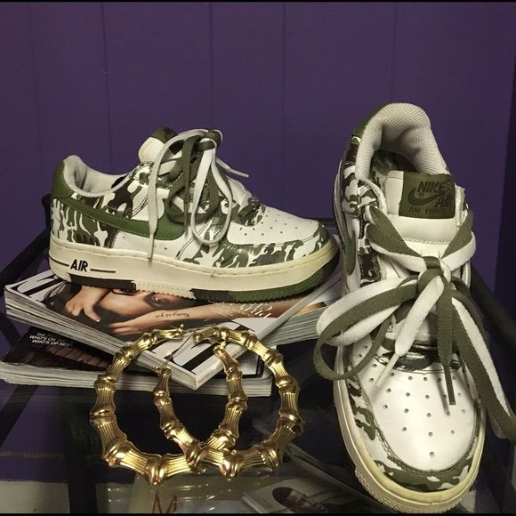 c65c44da6ea2ef Vintage camo Air Force One s Rare camo Air Force ones in good used  condition
