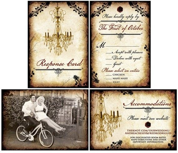 Price For Wedding Invitations: GREAT PRICE~Vintage Wedding Invitation Set / Vintage By