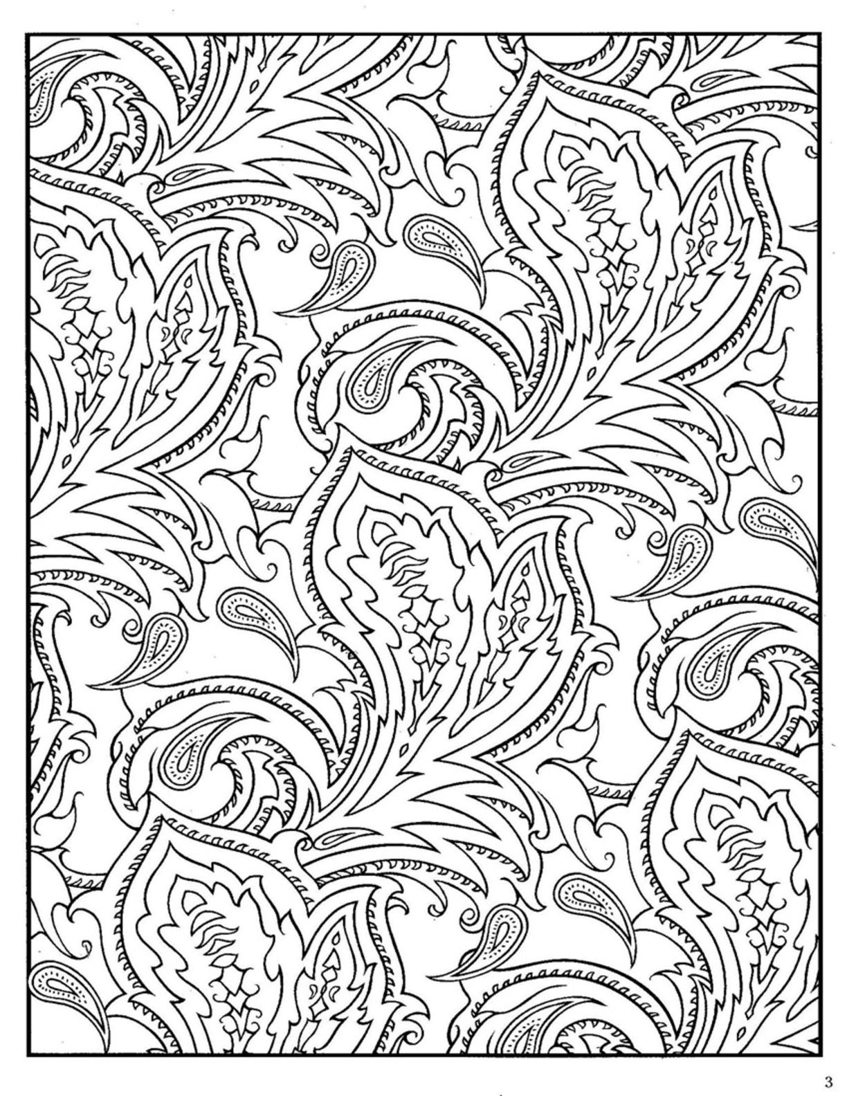 Paisley Peacock Coloring Page