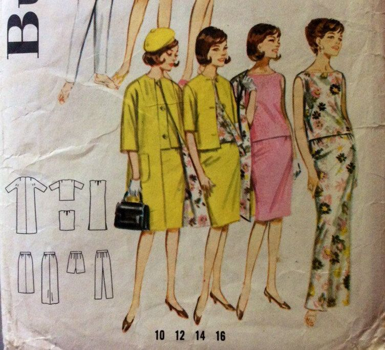 1960s Mod style separates Butterick 2704 vintage sewing pattern Bust 32 Waist 25 Hip 34 Retro 60s style Mad Men preppy era Easy to make by 101VintagePatterns on Etsy