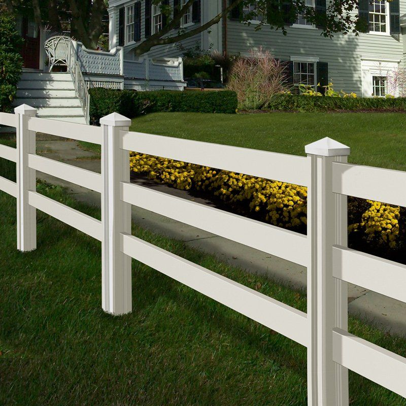 Have To Have It Wam Bam Premium Ranch Rail Vinyl Fence Panels With Posts And Caps 4 Ft 139 99 Haynee Vinyl Fence Landscaping Fence Panels Ranch Fencing