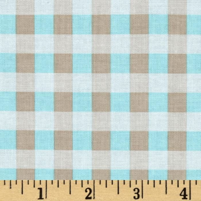 Riley Blake Twice as Nice Plaid Blue from @fabricdotcom  Designed by The Quilted Fish for Riley Blake Designs, this cotton fabric is perfect for quilting, apparel and home decor accents. Colors include  khaki, white and blue.
