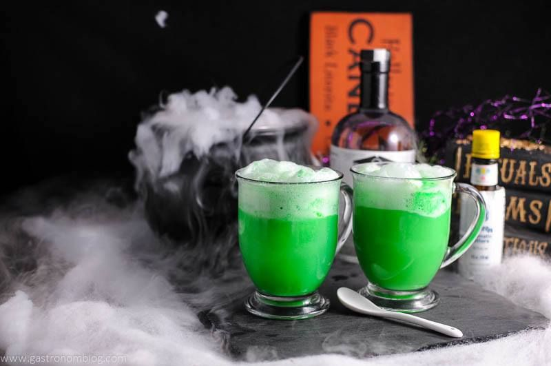 This Polyjuice Potion combines vodka, lime sherbet, aromatic bitters, and lemon lime soda to make this personal version of a Magical party punch!