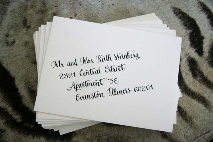 Wedding Envelope Calligraphy by Polished Pen Calligraphy
