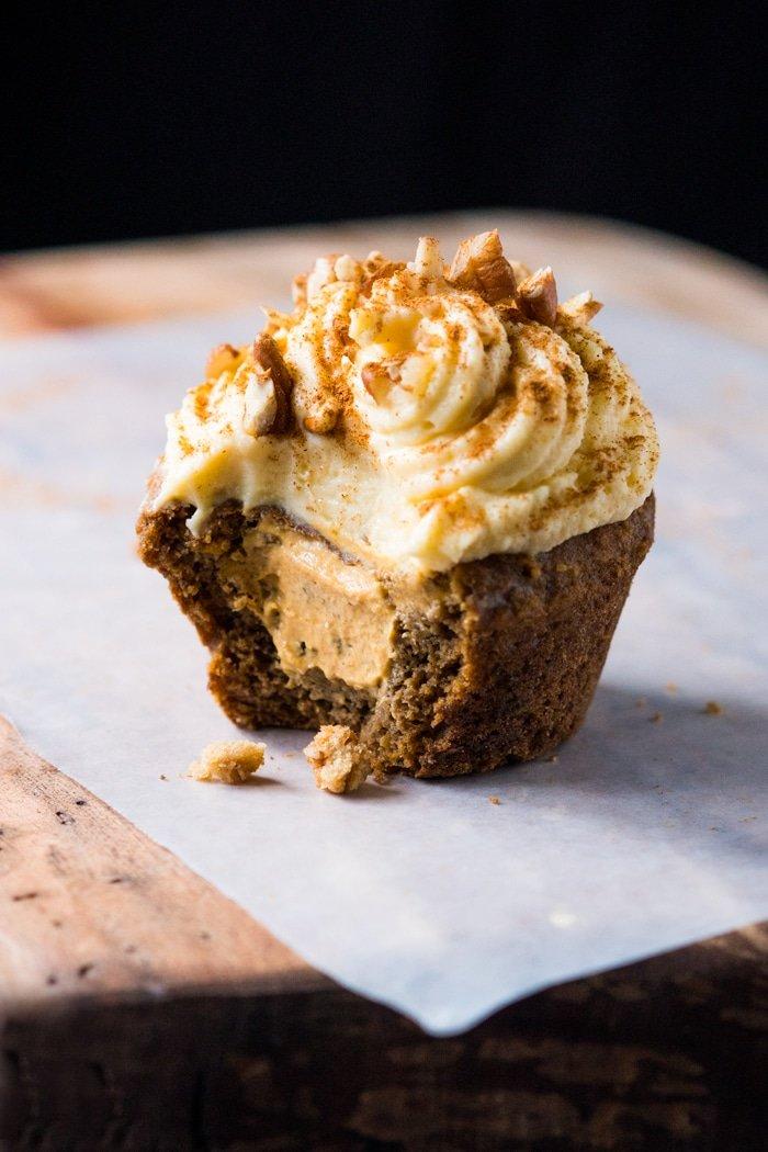 Gluten Free & Keto Pumpkin Spice Latte Muffins - gnom-gnom