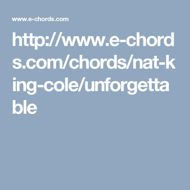 Httpe Chordschordsnat King Coleunforgettable Black