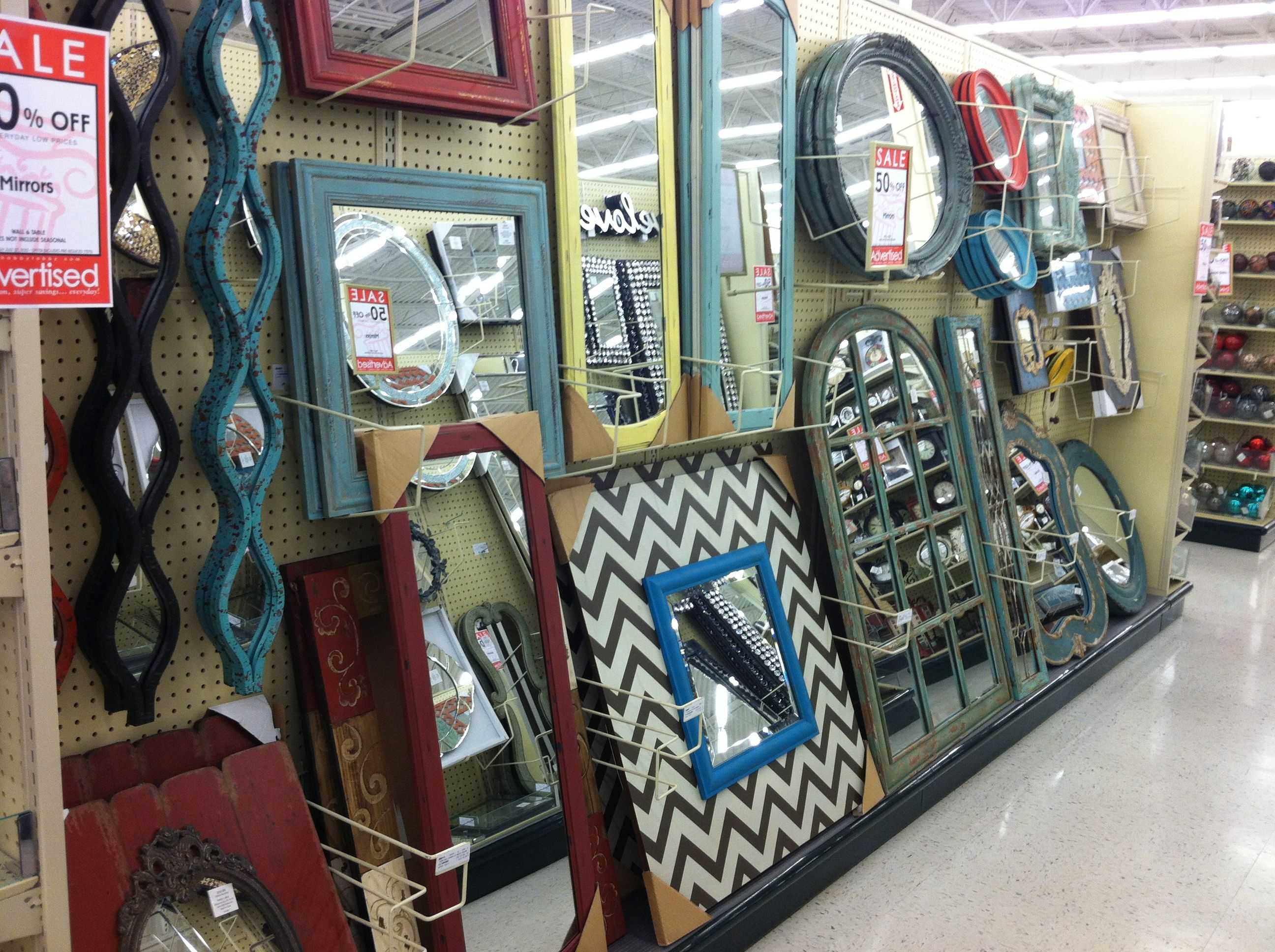 x Hobby Lobby 71 turquiose long mirror for mantle