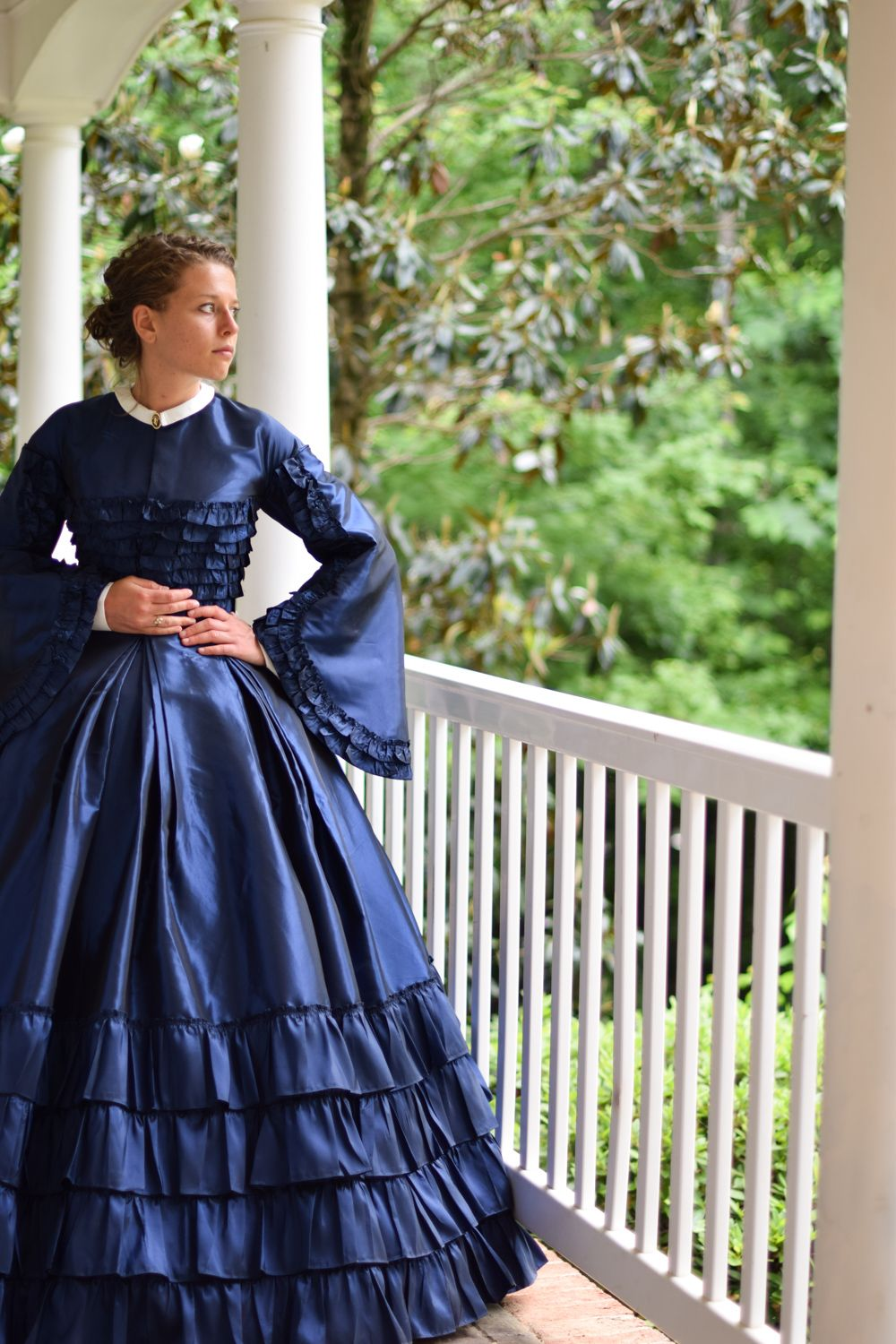 Civil war reenactment dress made by the tailorette