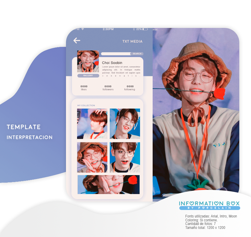 #020 TEMPLATE INTERPRETACION FACEBOOK By PORCELAIN By