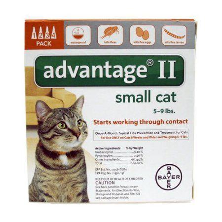 Advantage Ii Orange Cat 4 Months Multicolor Flea Treatment For