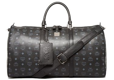 9a6cfef8b9e MCM Duffle , LARGE WEEKENDER. Available in Black. This is the largest size  MCM duffle bag available in black. Amazing hand made travel bag with  monogram ...