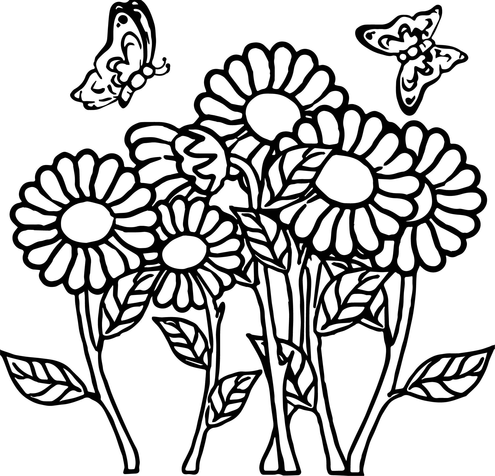 Awesome Butterfly Flower Coloring Page Flower Coloring Pages