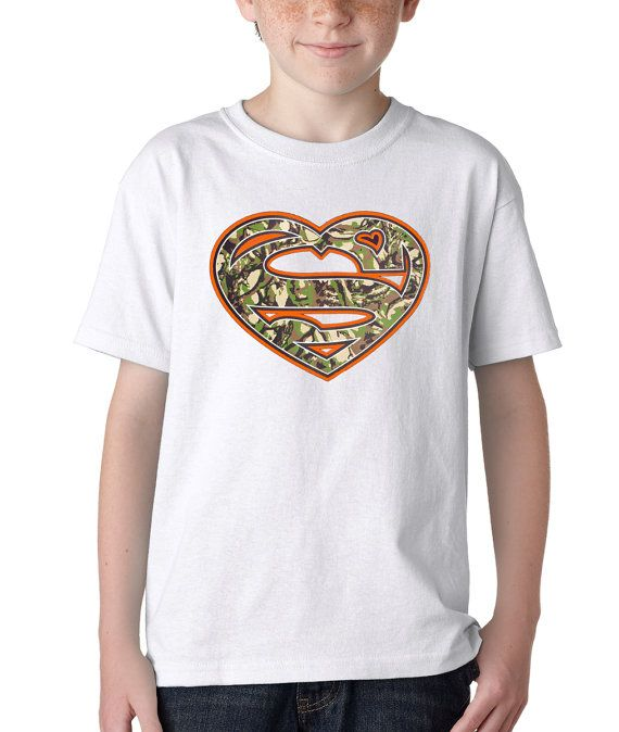 Kid S Super Heart Shirt Handmade Printed Youth Hunting Camouflage T Shirt 1129 By Expression Tees Trending Clothi Heart Shirt Camouflage T Shirts Kids Tshirts