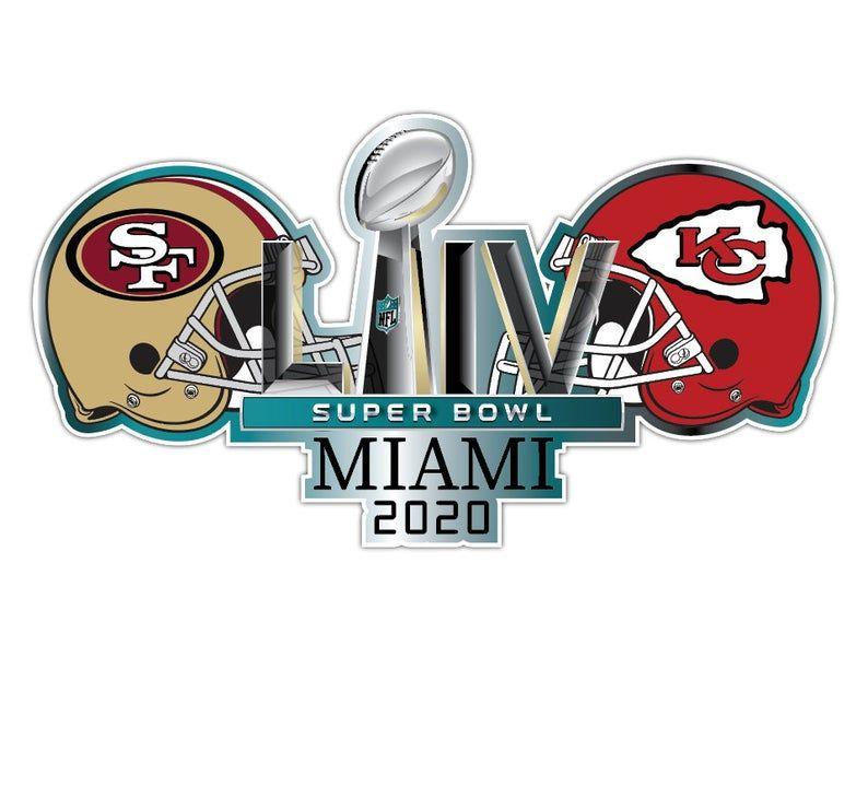 Super Bowl Superbowl 54 2020 San Francisco 49ers Vs Kansas Etsy Nfl Football Logos Sports Vinyl Decals Super Bowl