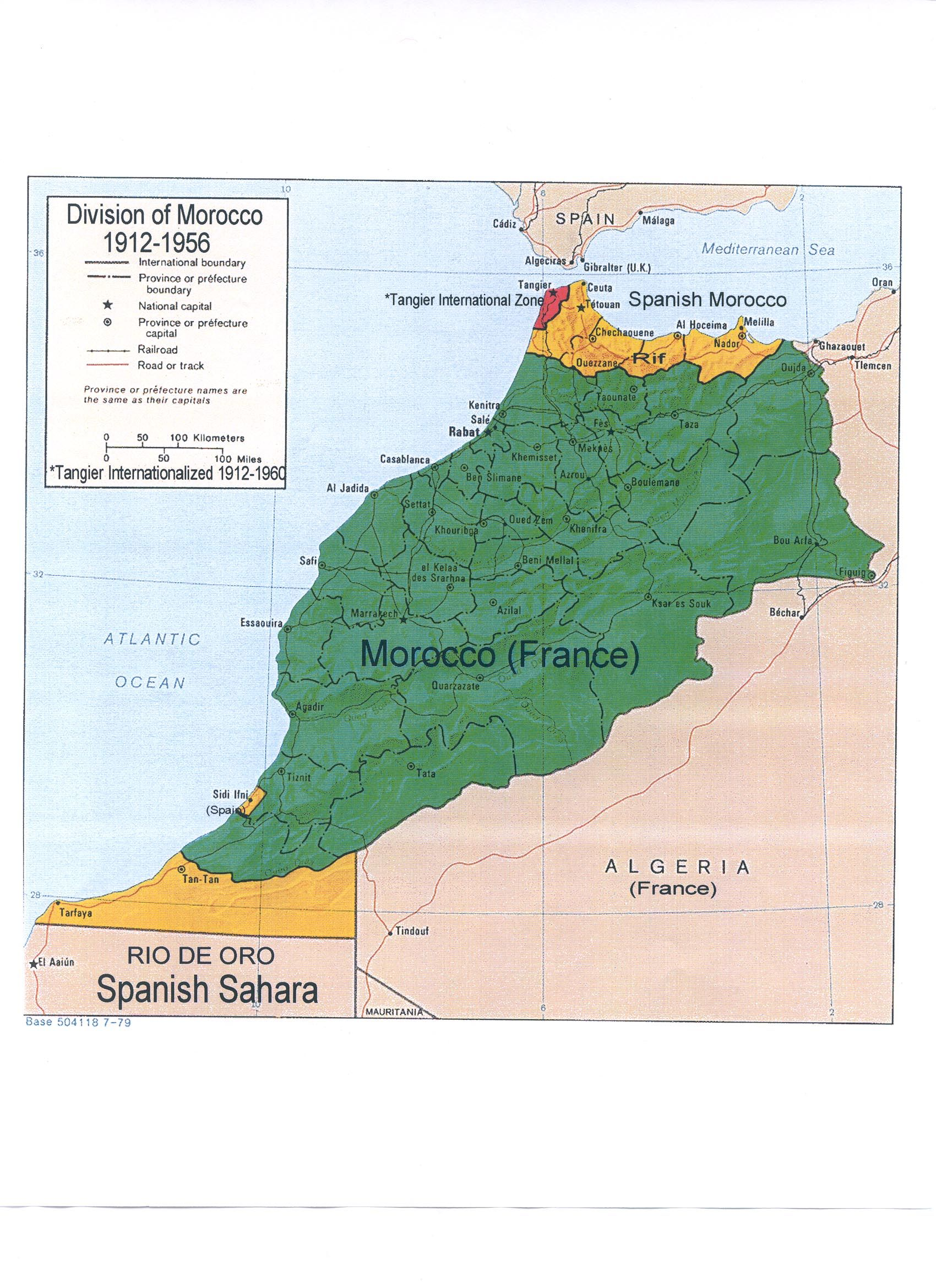 Map Colonial Morocco  Map  Pinterest  Morocco and History