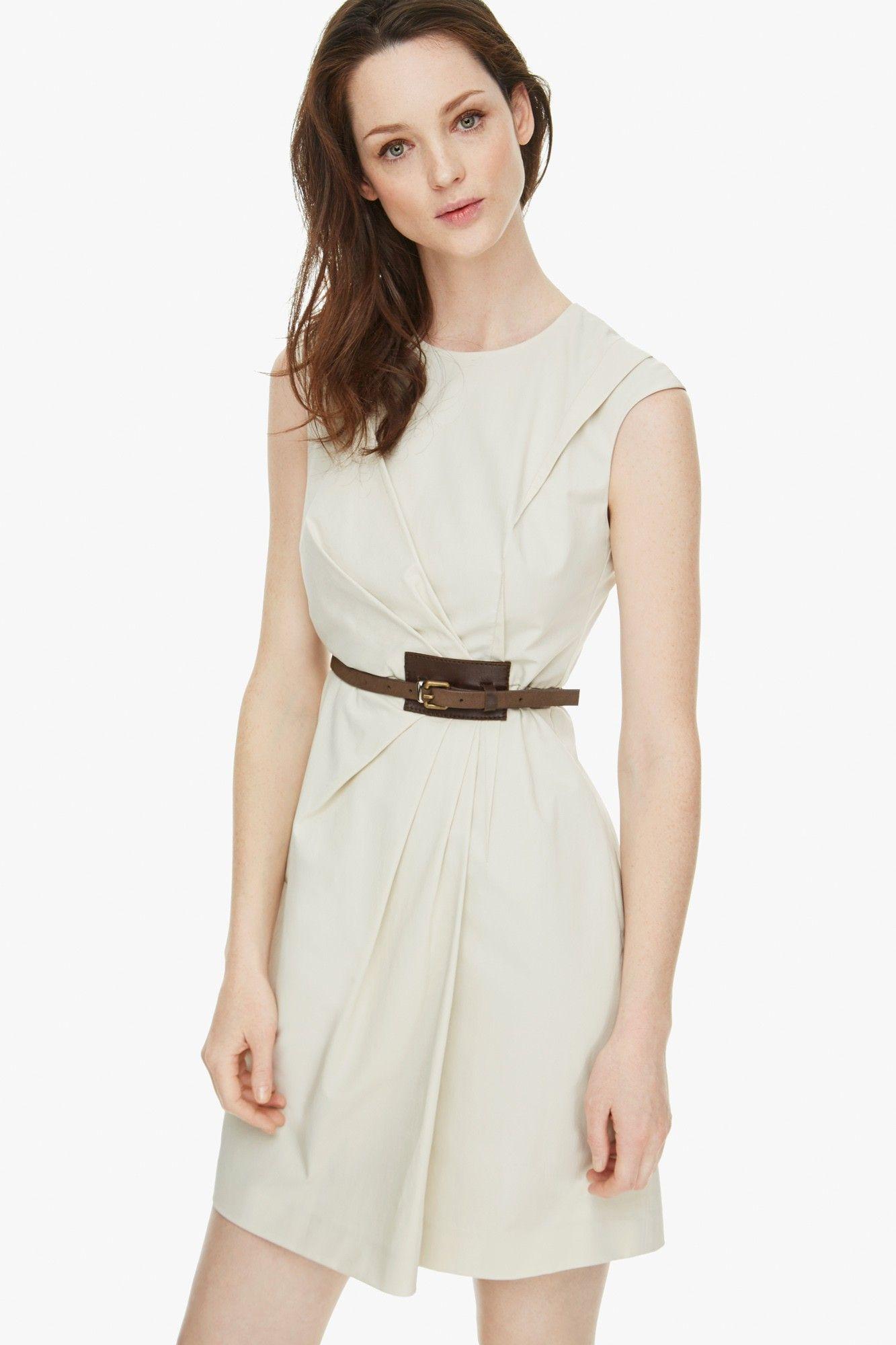 Vestido frunce gabardina vestidos adolfo dominguez for Vestidos adolfo dominguez outlet online
