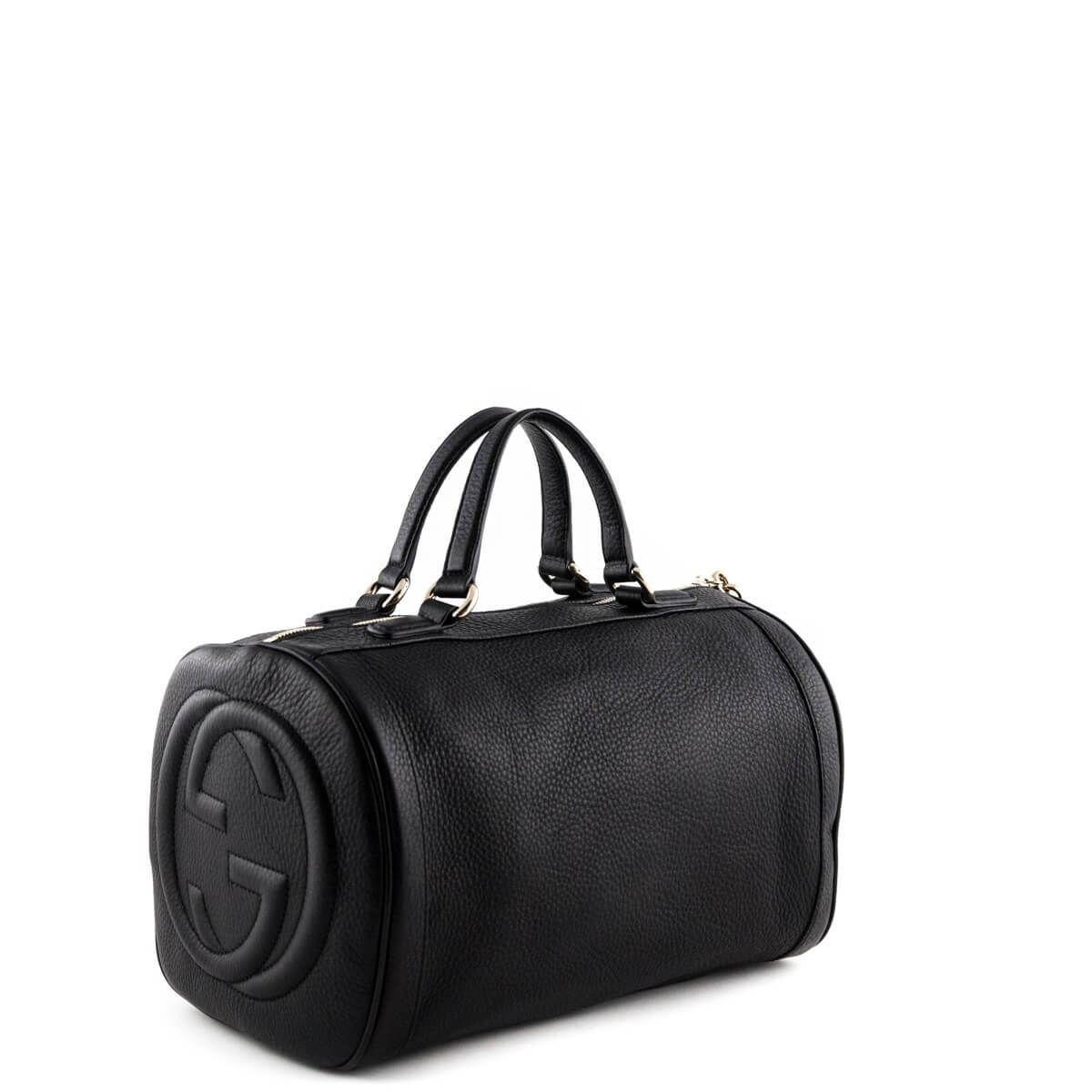 bfe114c1f5c Gucci Black Soho Medium Boston Bag - LOVE that BAG - Preowned Authentic  Designer Handbags