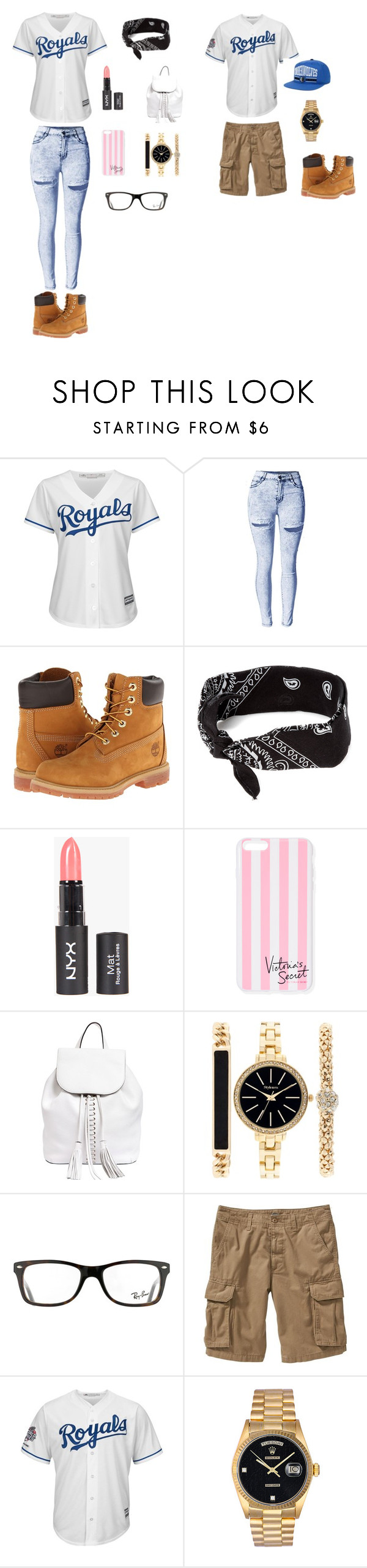 """""""Twins"""" by patshawnj on Polyvore featuring Majestic, Timberland, claire's, Victoria's Secret, Rebecca Minkoff, Style & Co., Ray-Ban, Old Navy, Rolex and Puma"""