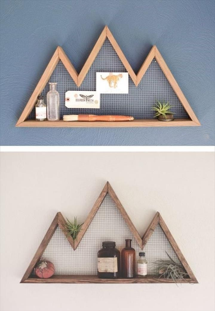 Photo of DIY Wood Mountain Wall Shelves – 13 DIY Wood Projects – Home Decor Ideas #Decor #DIY #H …
