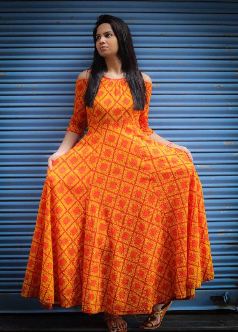 703b9c45f75 Maxi dress with cold shoulder