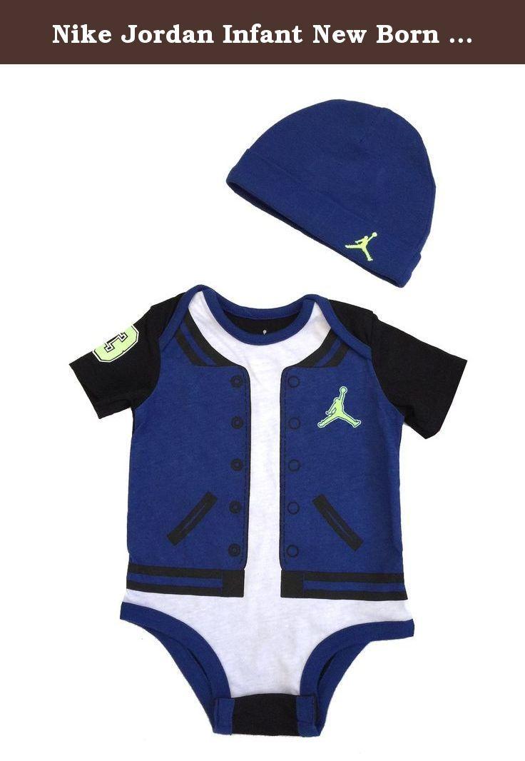 743b0cb5b58025 Nike Jordan Infant New Born Baby Bodysuit and Cap 2 Pcs Layette Set (6-9  MONTHS). 2 PCS BODYSUIT AND CAP.