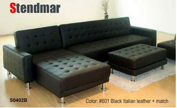 Welcome to Stendmar.com Modern leather sectional Sleep sofa King Bed S0402B