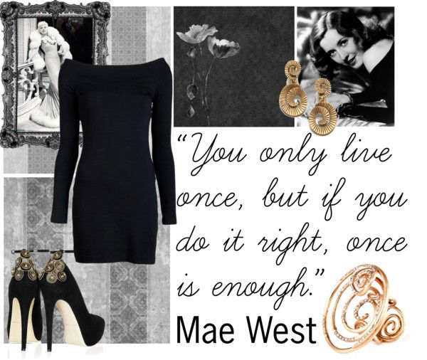 """""""Mae West"""" by vanessa-ki ❤ liked on Polyvore"""