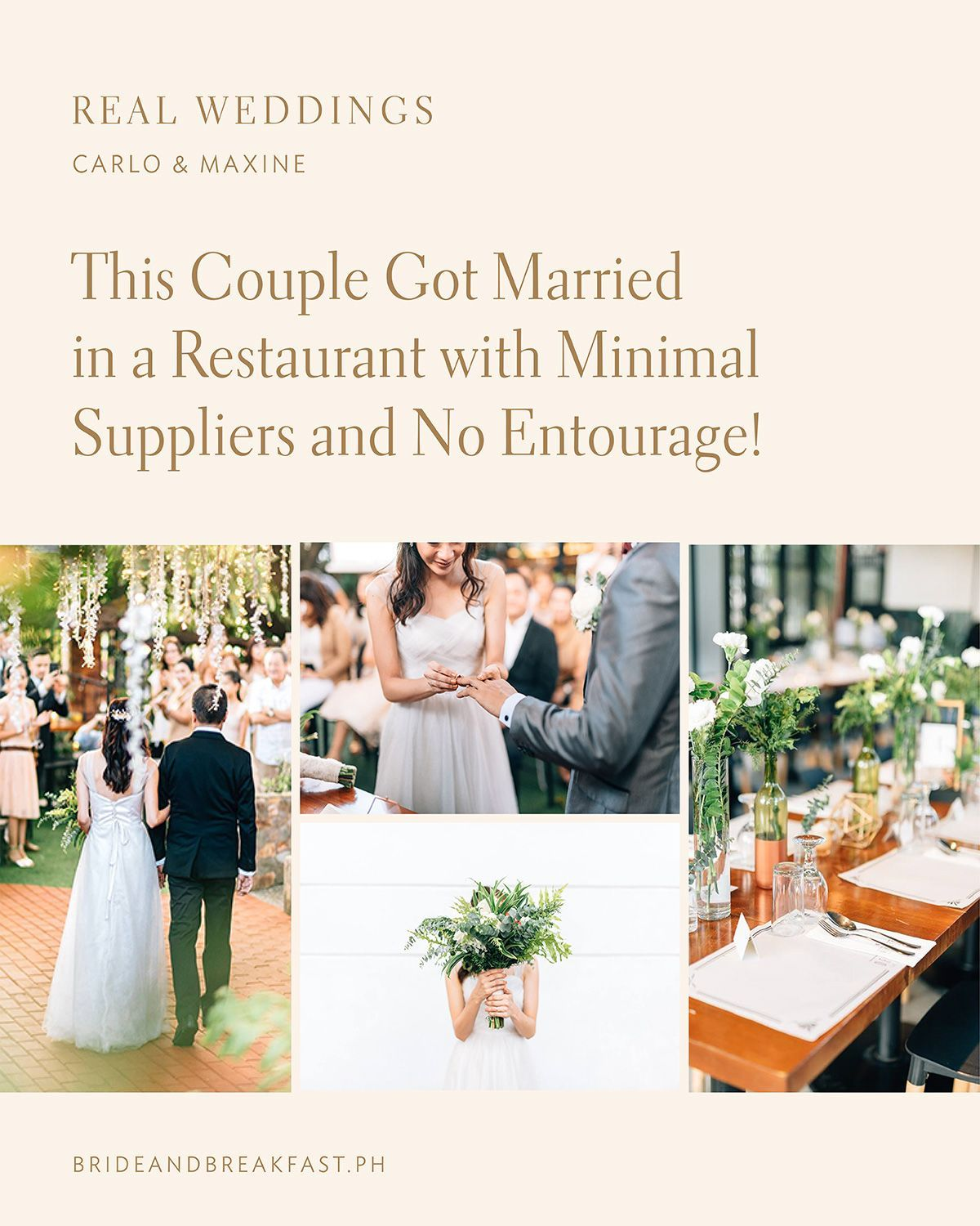 This Couple Got Married In A Restaurant With Minimal Suppliers And No Entourage In 2020 Bride And Breakfast Bride And Breakfast Philippines Civil Wedding