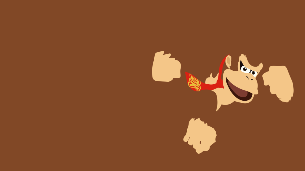 Donkey Kong Minimalist Wallpaper By Brulescorrupted On
