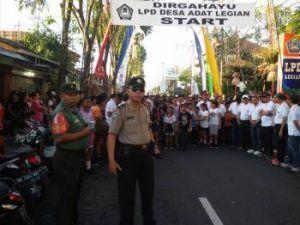 Polsek Kuta Polresta Denpasar Amankan Kegiatan HUT LPD
