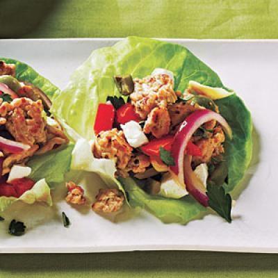 Chicken Lettuce Cups Recipe | 284 calories