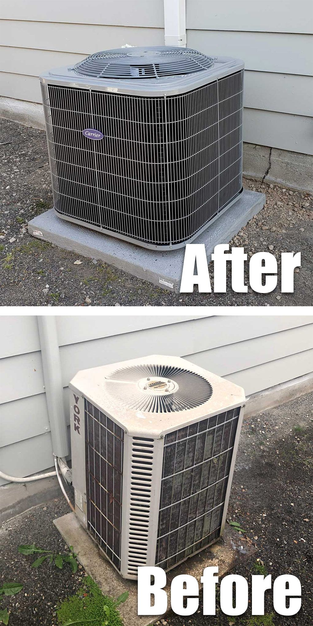 Look At The Difference Our Customer Upgraded From An Older York