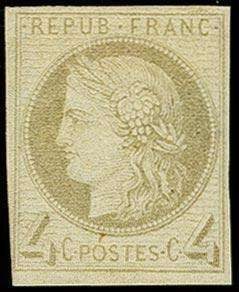 French Colonies, Michel 16, 1872, Ceres 4c. Grey, fresh color and close to good margins all around, unused, fine, signed Marquelet (slightly showing through) and certificat von der Weid