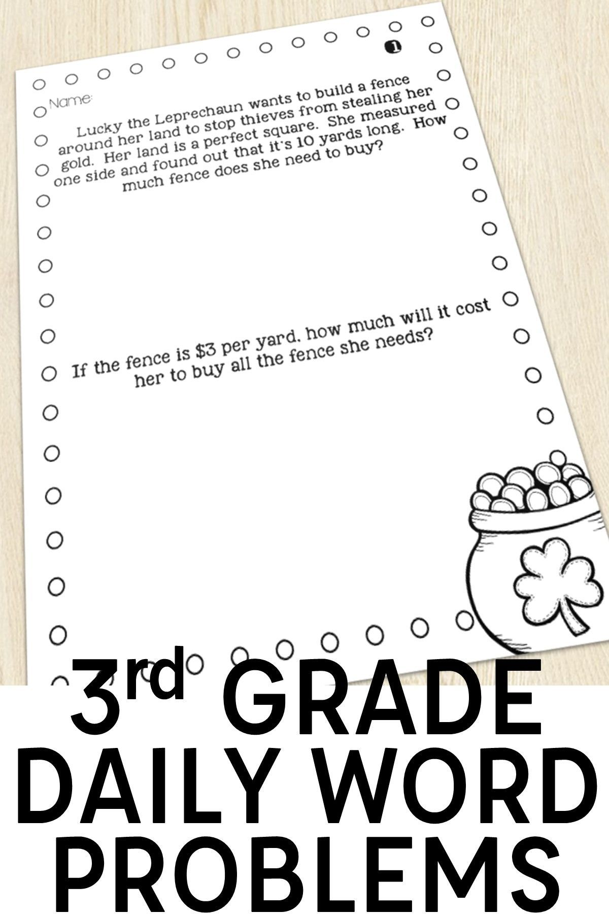 3rd Grade Multi Step Word Problems Of The Day Bundle