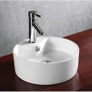 Elanti Vessel Abovecounter Round Bowl Bathroom Sink In White Best Sink Bowl Bathroom Design Inspiration