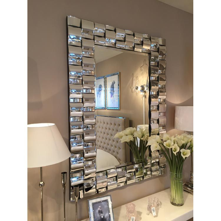 framed modern mirror. Glass Framed Curved Mosaic Modern Mirror I