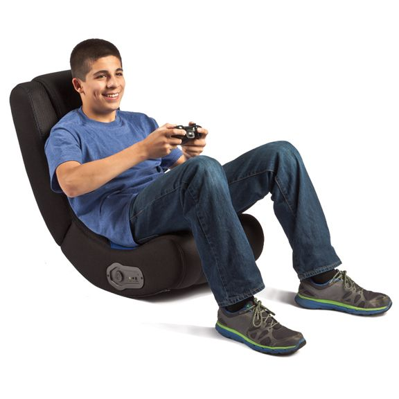 Rocker Gaming Chair Canada Stackable Resin Chairs Lowes Blue Curve Available At Staples New