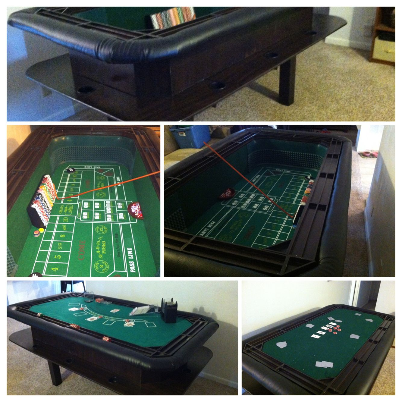 DIY craps/game table, ultimate man cave game table